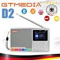 GTMEDIA D2 2 4 дюймов Bluetooth на батарейках портативный радио многодиапазонный ЖК-дисплей стерео Поддержка FM ежедневная запись на TF карту