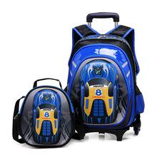 Torby szkolne 3D na kółkach plecaki szkolne plecaki na kółkach plecaki szkolne dla dzieci plecaki szkolne dla chłopca torby podróżne dla dzieci tanie tanio INFEYLAY zipper 2057399 Cartoon 33cm Chłopcy 17cm Torba na kółkach 42cm 1 9kg
