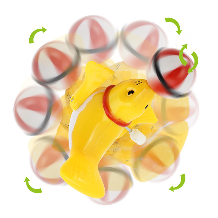2067 Creative Children Sea Lions Wind-up Toy Cartoon Animal Winding Dolphin Small Toy Stall