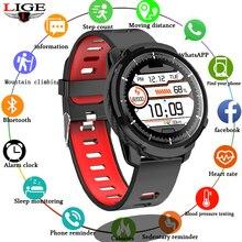 LIGE New Smart Watch Women Full Touch Screen Heart Rate Monitor Blood Pressure Fitness Tracker Men Smartwatch Sports N58