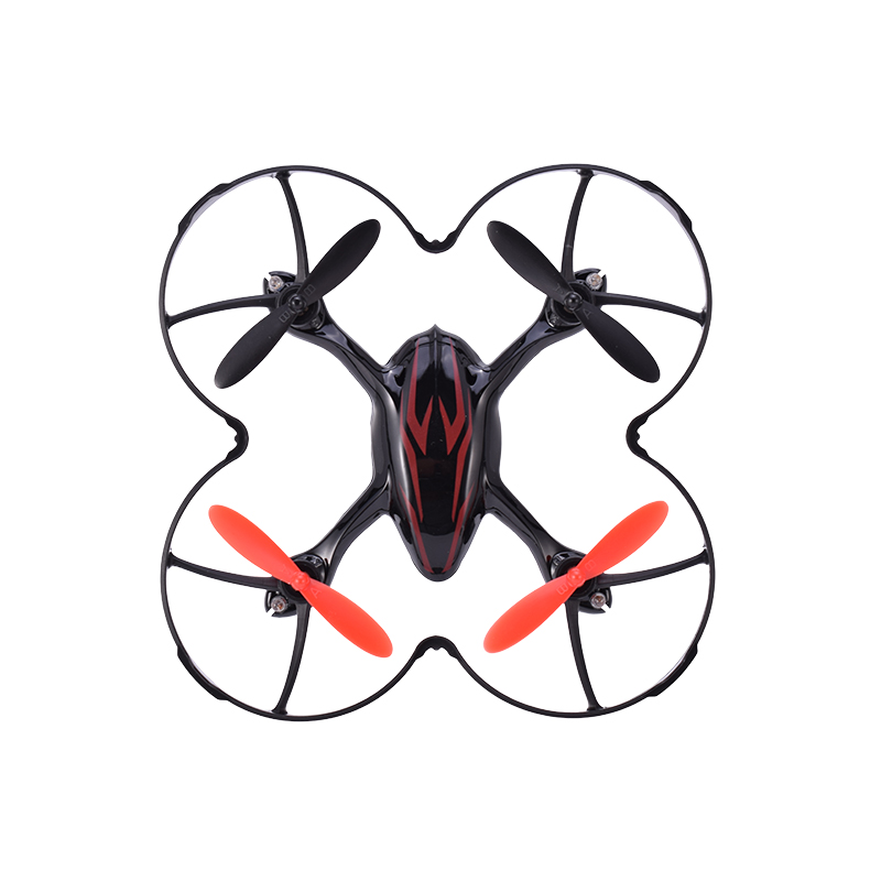 Hubsan H107C X4 720P HD Camera 2.4G 4CH RTF RC Quadcopter Helicopter Drone with LED Lights Remote Control Toys Black Mode2
