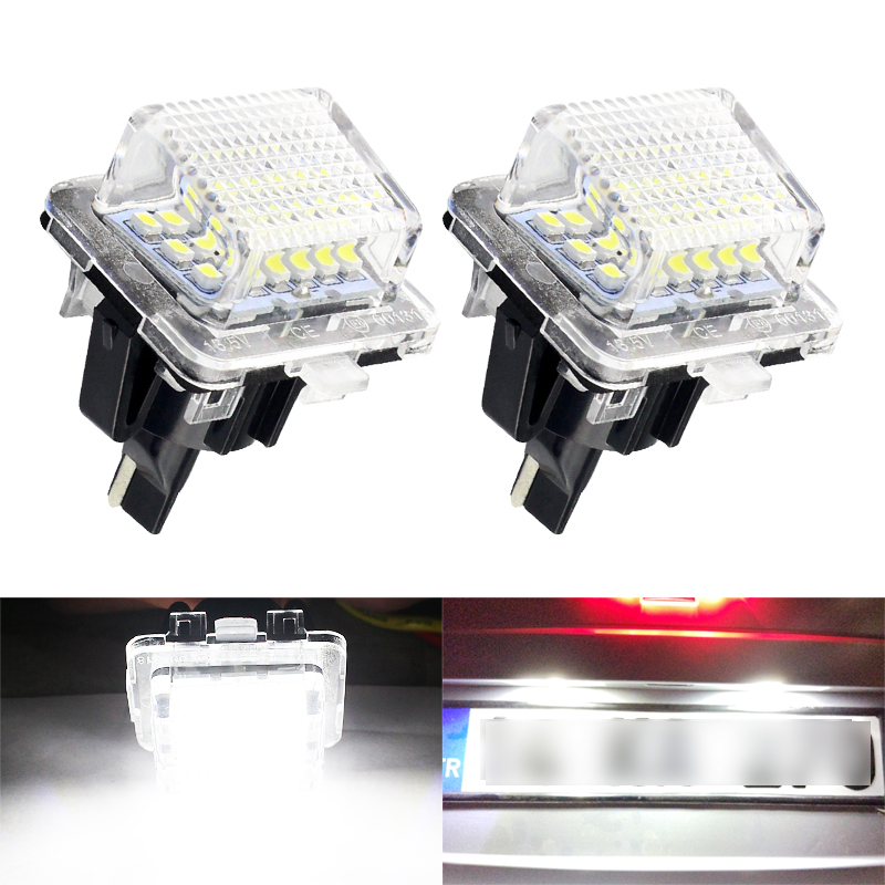 2pcs/set Canbus LED number License Plate <font><b>Light</b></font> for Mercedes <font><b>Benz</b></font> W204 W212 W216 <font><b>W221</b></font> W207 W218 image