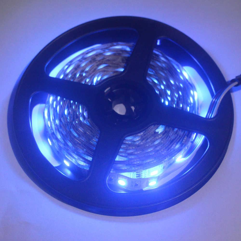 Taśma LED lekka elastyczna dioda taśma wstążkowa DC 12V 1M 2M 3M 4M 5M SMD 2835 5050 RGB wodoodporna moc zdalne oświetlenie 24Key 44Key