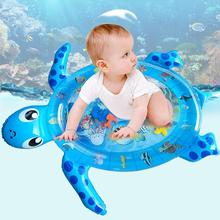 NEW Inflatable Baby Kids Water Mat Floating Turtles Pattern Pad Splash Filled Cushion Fun Activity