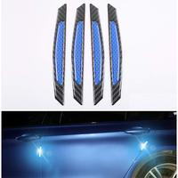 4Pcs/Set Car Door Bumper Sticker Car Reflective Strip Warning Safety Mark Anti collision Auto Side Anti scratch Strip Protector
