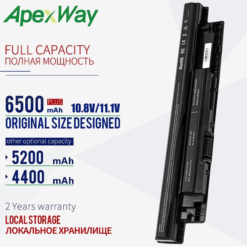 Apexway 6 Cellen Batterij Voor Dell MR90Y 6K73M 312-1387 Voor Vostro Inspiron 2521 2421 17R 5721 3721 15R 5521 3521 14R 5421 3421