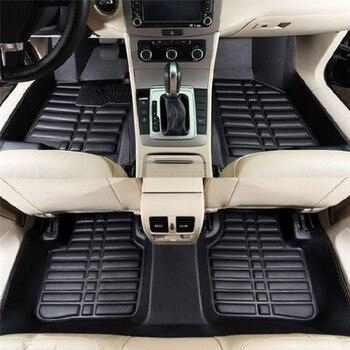 5PCS car floor mats Universal Car Auto Floor Mats Anti-Slip Mat Floor Liner Front&Rear Carpet Mat firm soft car accessories floor mats liner 4 5d molded black fits nissan qashqai 2014 rubber floor mats