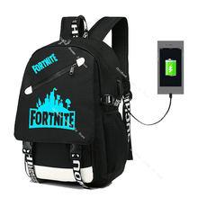 Светящийся рюкзак fortnite для студентов школьные ранцы повседневная