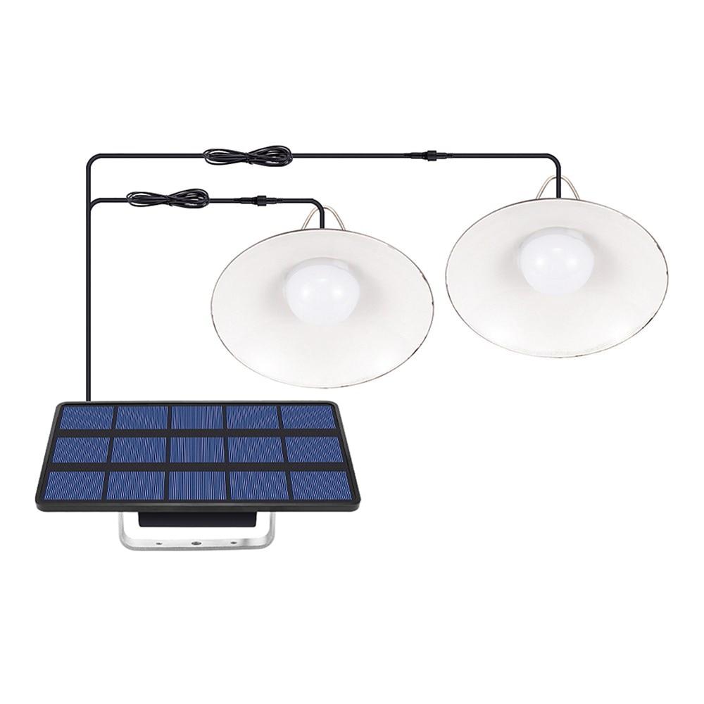 Solar Light LED Bulb Ceiling Porch Solar Chandelier Light With 9.8FT Cord Solar Lamp For Garden Yard Lighting