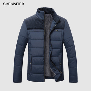 Image 3 - CARANFIER หนาฤดูหนาวแจ็คเก็ตชายเสื้อผ้าลำลองคุณภาพสูงแฟชั่นฤดูหนาว Men Parka Outerwear