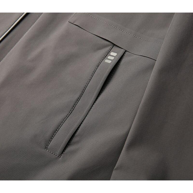Plus size 8XL 7XL 6XL 5XL nova chegada jaquetas homens marca roupas de outono primavera com capuz preto casaco masculino top qualidade blusão - 5