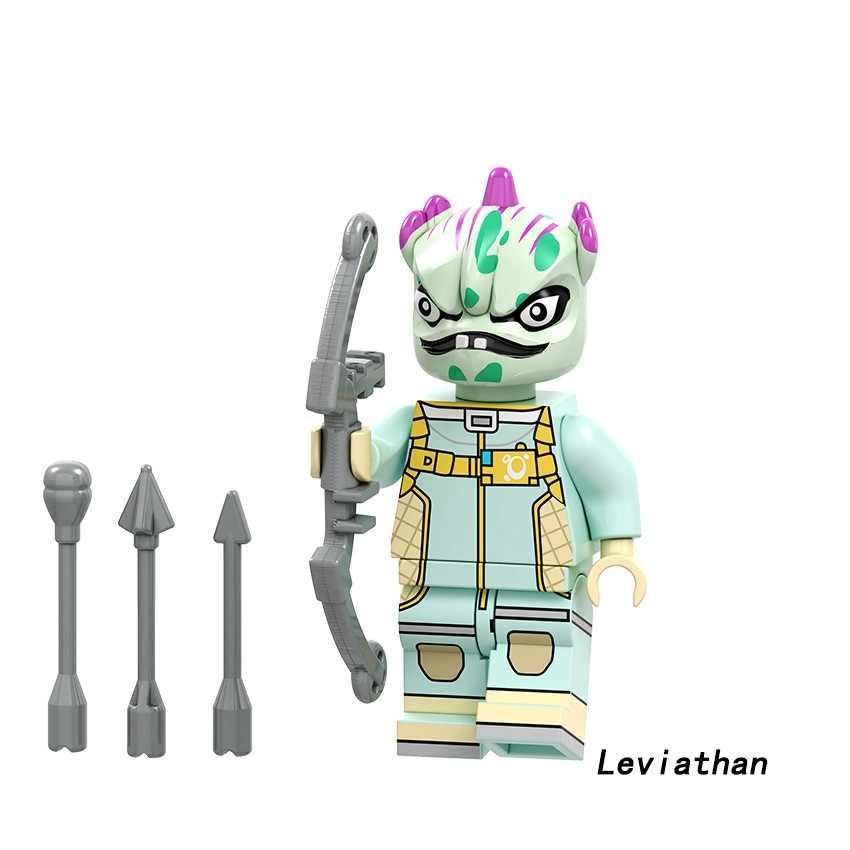 ขายเดียว Building Blocks แอ็คชั่น Zoey Cuddle ทีมผู้นำ Leviathan Tomatohead Brite Gunner ของเล่นเข้ากันได้กับ Legoed