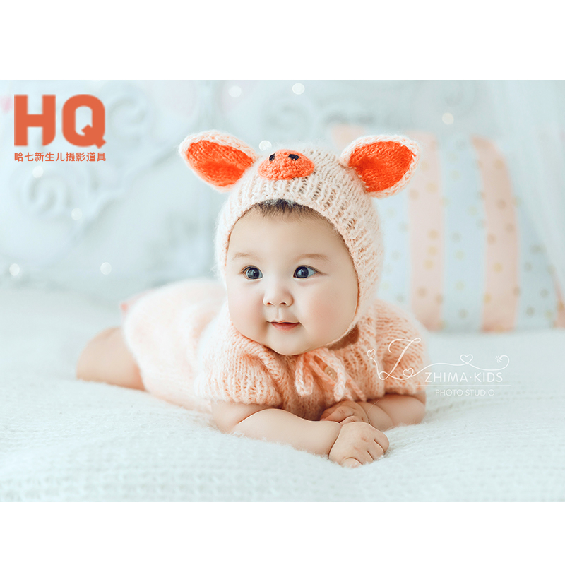 Baby Newborn Photography Props Clothes Newborn Baby Photo Romper Children Photography Outfits Boy And Girl  Handmade Knit Romper