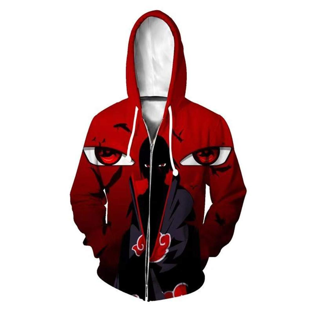 Boruto Naruto Hoodies Jacket Men Harajuku 3D Hoody Akatsuki Coat Uchiha Itach Cosplay Costume Kakashi Zipper Hooded Sweatshirts 2