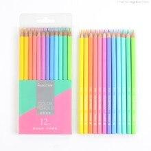 Marco 12/24 couleurs Pastel couleurs Non toxique crayon de couleur lapis de cor crayons de couleur professionnels pour fournitures scolaires