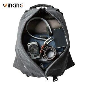Image 5 - Kingsons yeni stil moda İşlevli erkekler seyahat için USB şarj sırt çantası genç ve erkek su geçirmez anti hırsızlık çanta