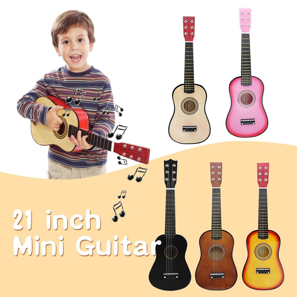 21/ 23 inch Solid Wood 6 Strings Acoustic Guitar Children Practice Mini String Acoustic Guitarra for Child Home-schooling