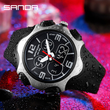 Men's Watches Military Top-Brand SANDA Luxury 779 Sports Waterproof Relogio Quartz Dual-Display
