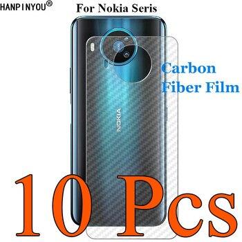 Перейти на Алиэкспресс и купить 10 шт./партия для Nokia 3,1 Plus TA-1104 TA-1115 3D ультра тонкая прозрачная задняя пленка из углеродного волокна наклейка с защитой экрана