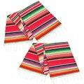 Мексиканская скатерть 14 на 84 дюйма  2 упаковки  мексиканские вечерние украшения для свадебного стола 14 на 84 дюйма  Хлопковое одеяло с бахромо...