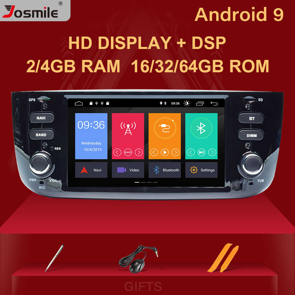 4 ギガバイト Autoradio 1 ディンアンドロイド 9.0 カー DVD プレーヤーフィアット/リネア/プント evo 2012- 2015 マルチメディア GPS ナビゲーション IPS DSP 8 コア