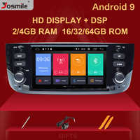 4GB Autoradio 1 Din Android 9.0 Car DVD Player Stereo For Fiat/Linea/Punto evo 2012-2015 Multimedia GPS Navigation IPS DSP 8core