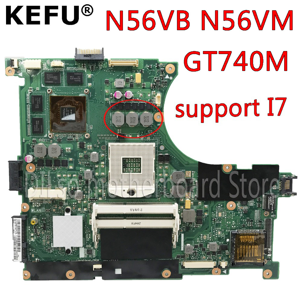 For ASUS N56D N56DR N56DY Motherboard 2GB RAM REV 2.2 Mainboard 100/% working