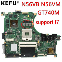 KEFU N56VB motherboard For ASUS N56VM N56VB N56VV N56VZ Laptop motherboard REV2.0 N56VB GT740M 2G support I7 original Motherboards     -