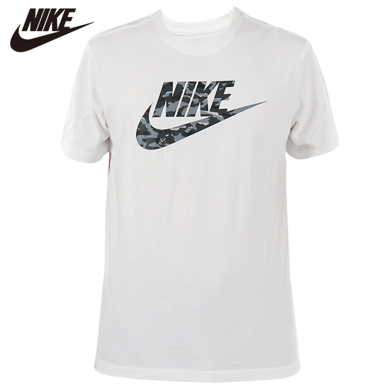 Original <font><b>NIKE</b></font> Short Sleeve White Men <font><b>Tshirt</b></font> O-neck Breathable Clothing image