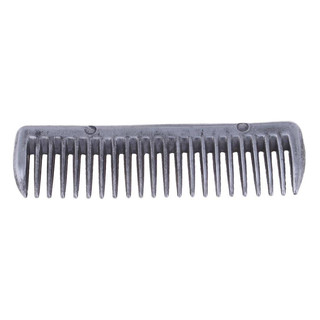 Stainless Steel Polished Horse Pony Grooming Comb Tool Currycomb Smooth