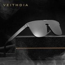 VEITHDIA Marke Mode Retro Aluminium Sonnenbrille Polarisierte Integrieren Objektiv Vintage Brillen Zubehör Sonnenbrille Für Männer V6881