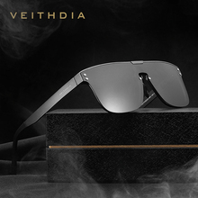 Veithdia óculos de sol masculino polarizado, óculos de sol de alumínio, retrô, polarizado, integrado, vintage v6881