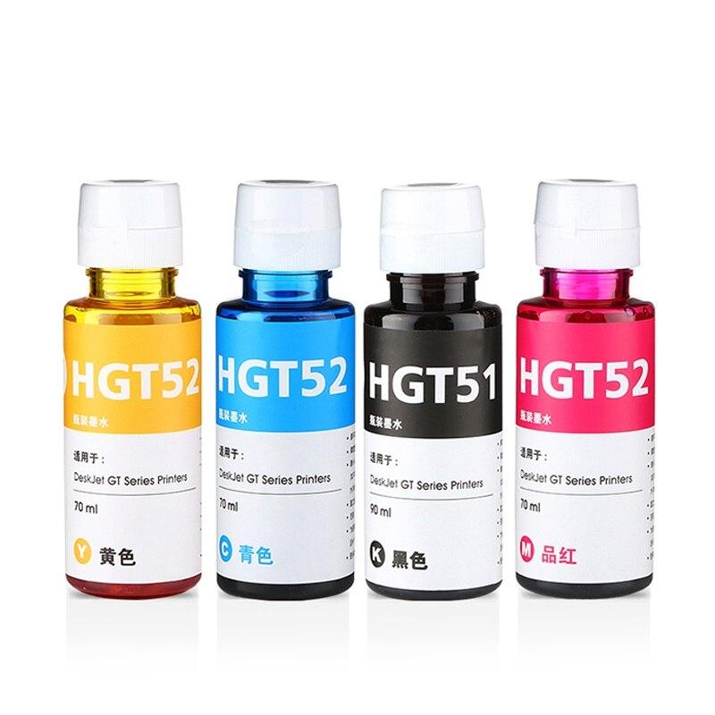 100ML/Bottle Universal Dye Ink For HP GT51 GT52 GT5810 GT5820 GT Series Inkjet Printer For GT 51 52 GT 5810 5820 Refill Dye Ink