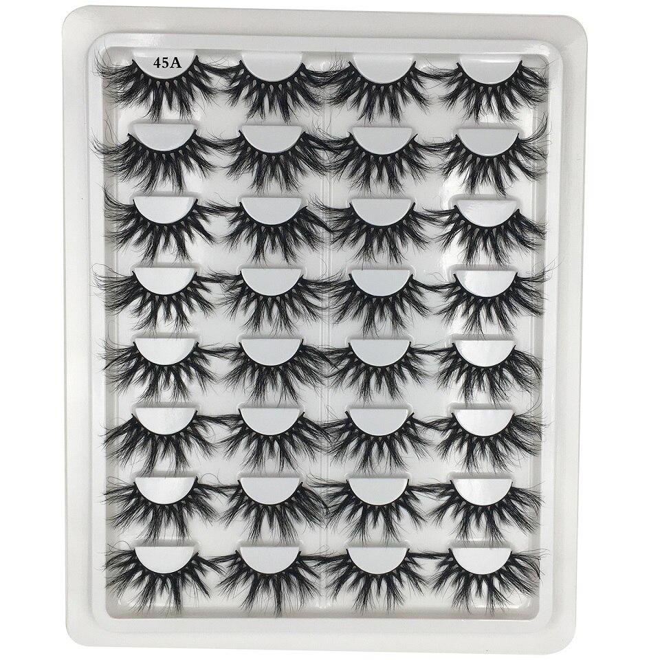 16 Pairs / Pack 25mm Lashes Mink Eyelashes Wholesale Bulk Dramatic Long Mix Fake Eyelash Extension Makeup 3D Mink Lashes