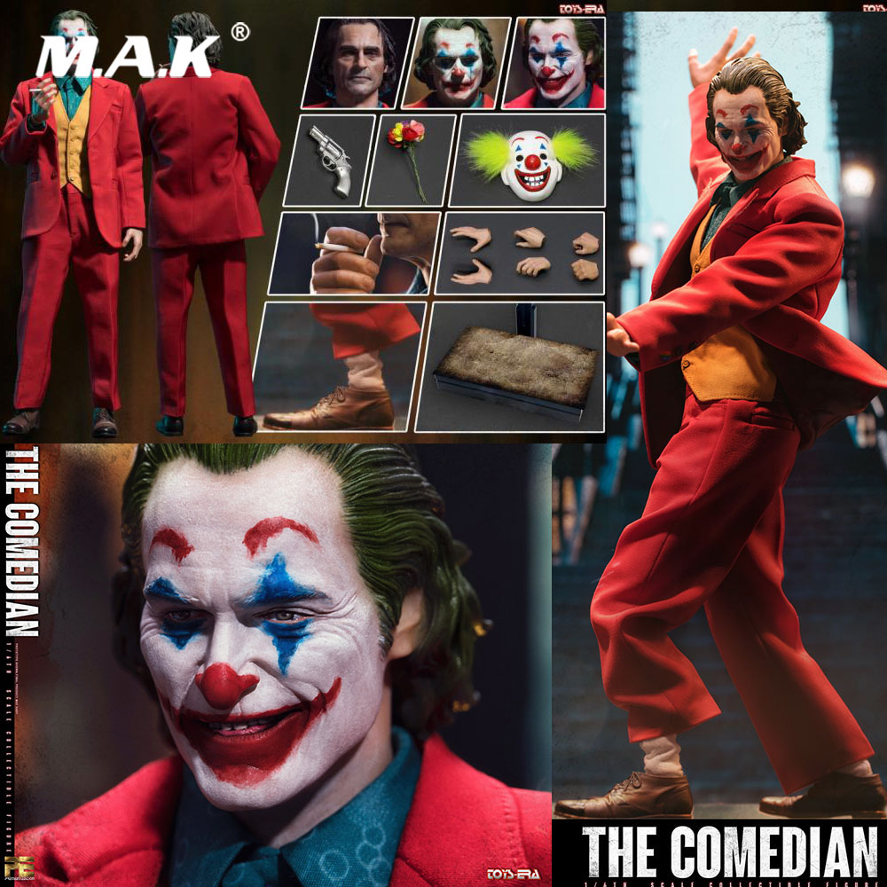 For Collection 1/6 Scale Full Set TOYS ERA PE004 The Comedian Joker Jacques With Three Head Sculpt Action Figure Model For Fans