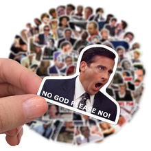 50/100Pcs/Set Friends OFFICE TV SHOW Waterproof Fun Sticker Toy Luggage Sticker Motorcycle and Luggage Notebook DIY Sticker