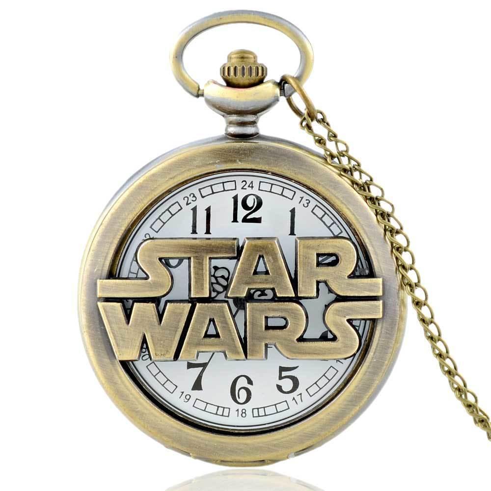 IBEINA  Antique Pocket Quartz Watch Retro Steampunk Pendant Necklace Chain Men Gift