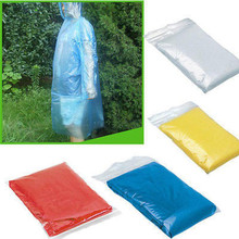 Raincoat Disposable Adult Emergency Waterproof Hood Poncho Travel Camping Must Rain Coat Unisex rain coat