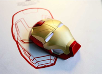 New Marvel The Avengers Iron Man wireless Mouse MK46 Iron Man Gold Helmet gaming mouse 1200dpi for PC|Mice|   -