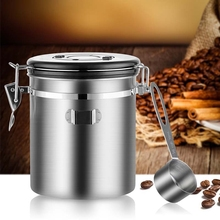 Canister-Set Coffee-Container-Storage Stainless-Steel with Airtight Scoop for Tea