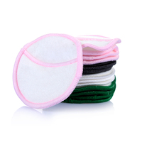 5Pcs/bag Reusable Bamboo Cotton Make Up Remover Pad Washable Rounds Facial Cleansing Pads Face Wipes Portable with Laundry Bag 4