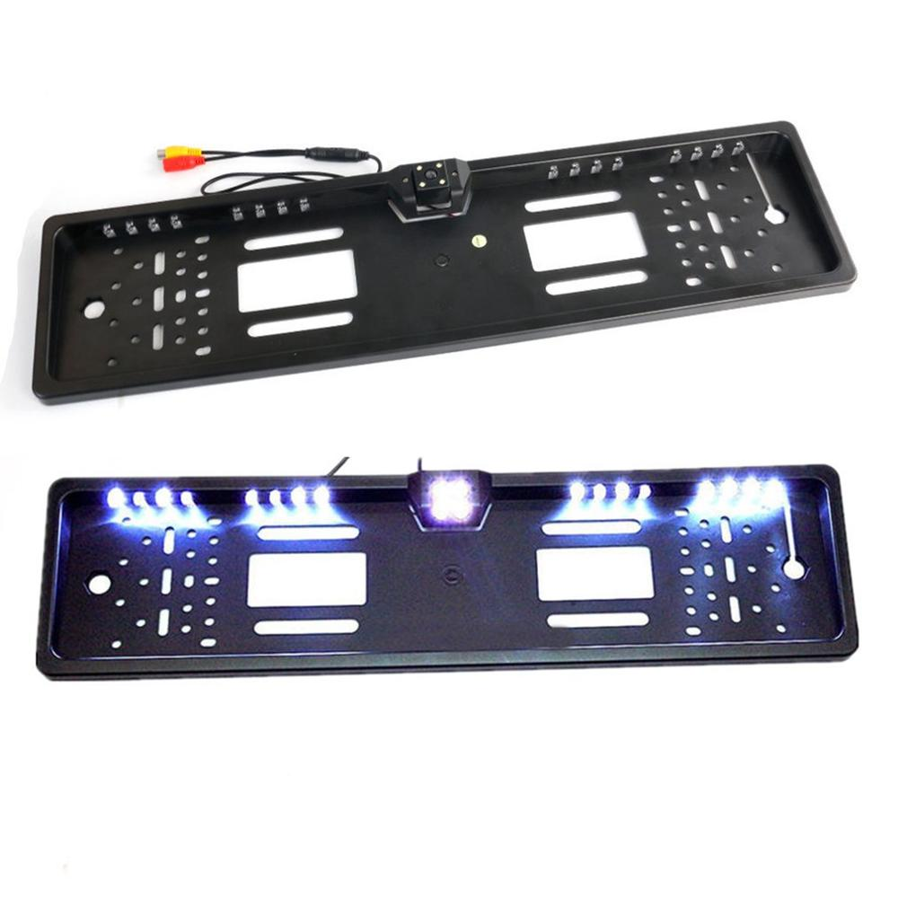 16LED Europe License Plate Frame Car Rear View Camera Waterproof Night Vision Reverse Backup Camera Led Light Parking System
