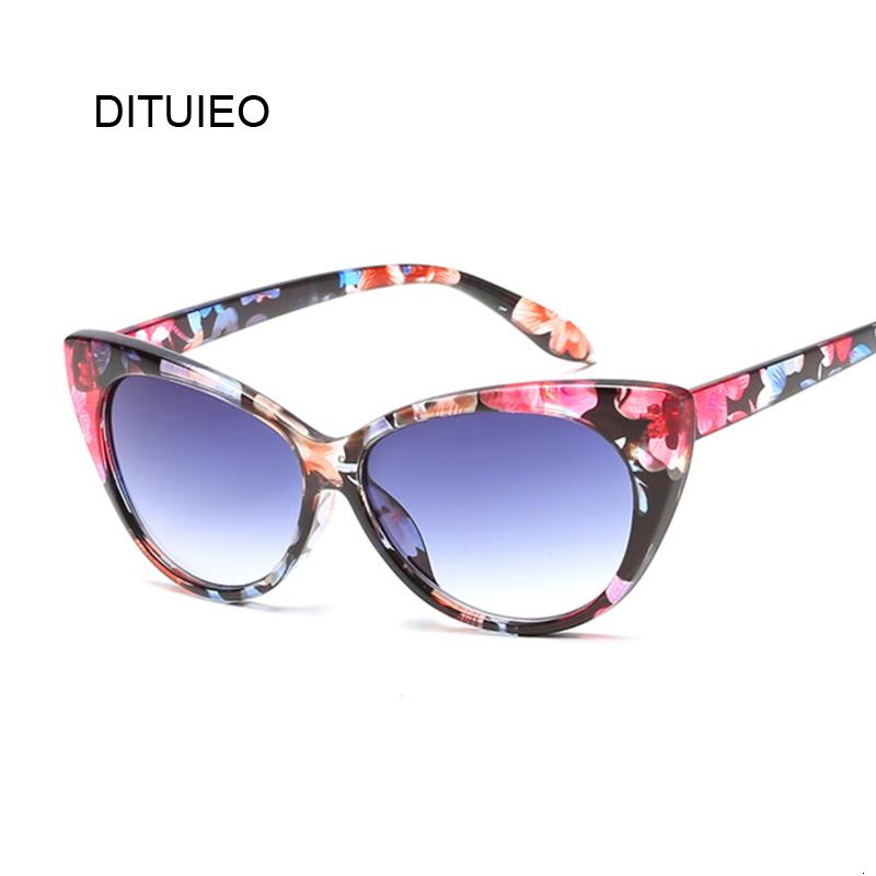 New Small Classic Women Sunglasses Female Vintage Luxury Plastic Brand Designer Cat Eye Sun Glasses UV400 Fashion