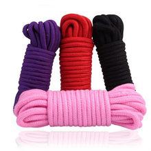 5m/10 m bawełna liny kobiet dorosłych Sex produkty niewolników BDSM Bondage miękkie bawełniane liny zabawy dla dorosłych wiążące liny odgrywanie ról Sex zabawki