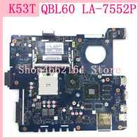 K53T QBL60 LA-7552P USB3.0 DDR3 Laptop motherboard For ASUS K53TA K53TK K53T X53T X53TA X53TK Notebook mainboard 100% Tested