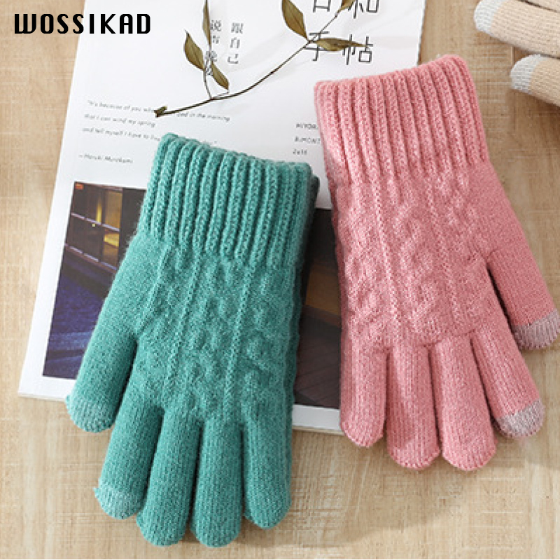 Gloves Promotion 2019 Women Winter Gloves Touch Screen Student Gloves Knitting Wholesale Peluche Guantes Mujer Handschoenen