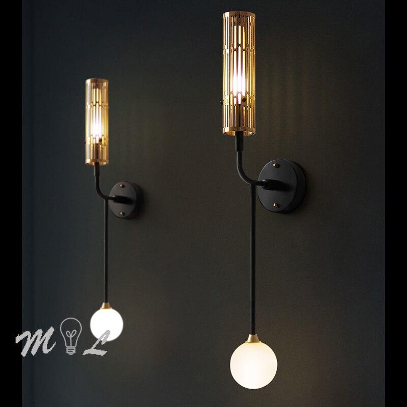 Настенный светильник в скандинавском стиле для ванной комнаты, современный + креативные лампы, железный зеркальный передний светильник G4, с