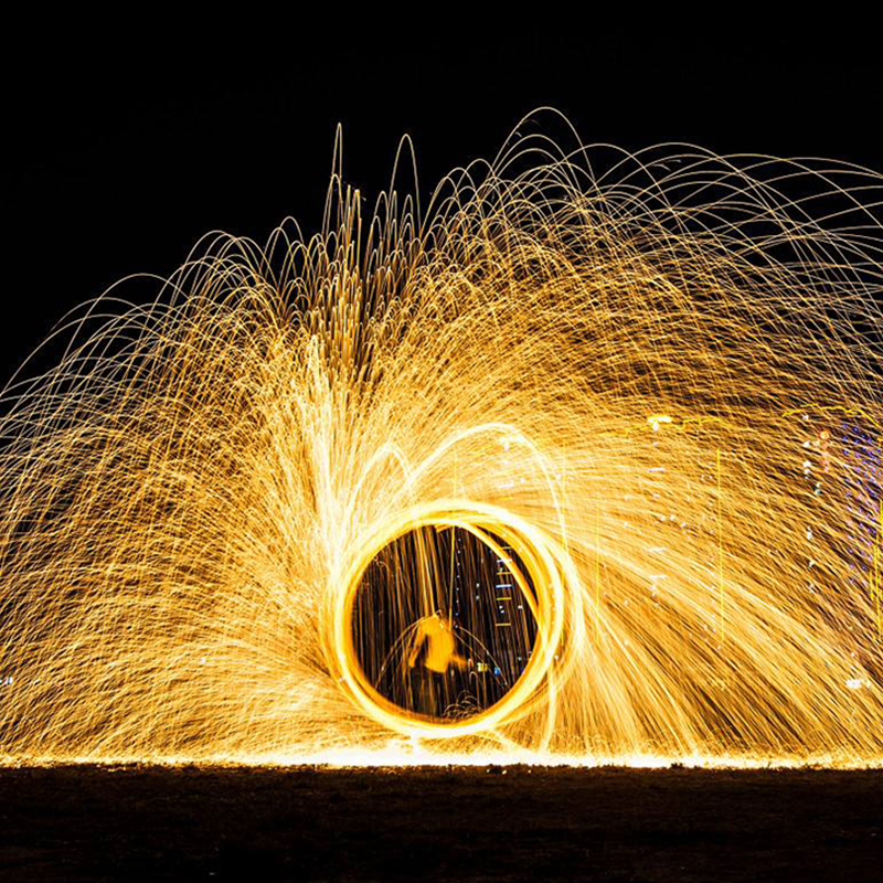 Magic Fire Photo Props Steel Wool Magic Tricks Fireworks Circle Video Vlog Selfie Background Pyrotechnics Scene Toy For Adults