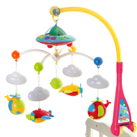 Bell Baby Mobile DIY Educational Cute Rotate Music Box Holder Infant Educational Toy Home Stroller With Projector Toy