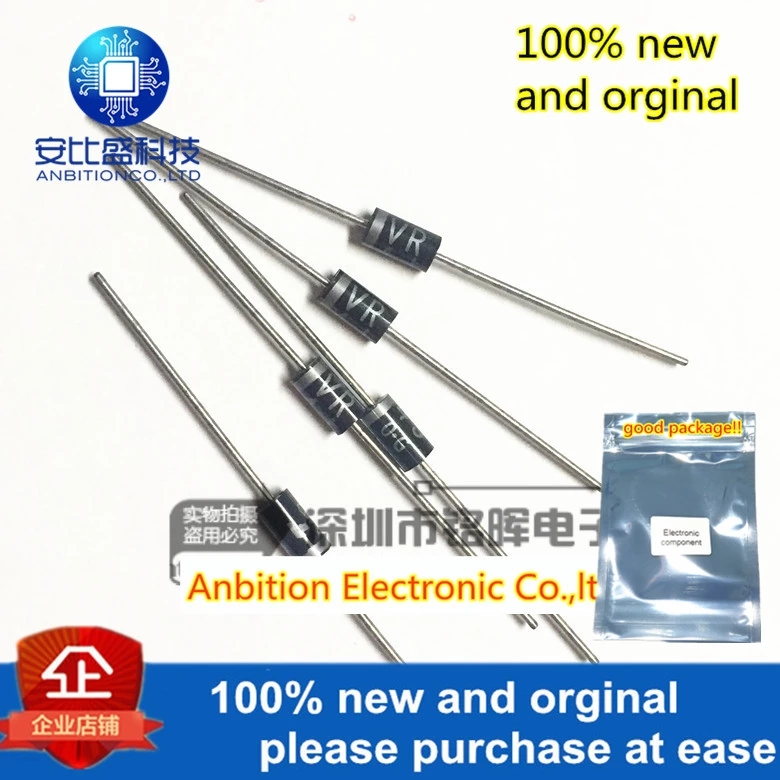 10pcs 100% New And Orginal TVR4J DO15 Fast Recovery Rectifier Diode 220V Power Supply In Stock
